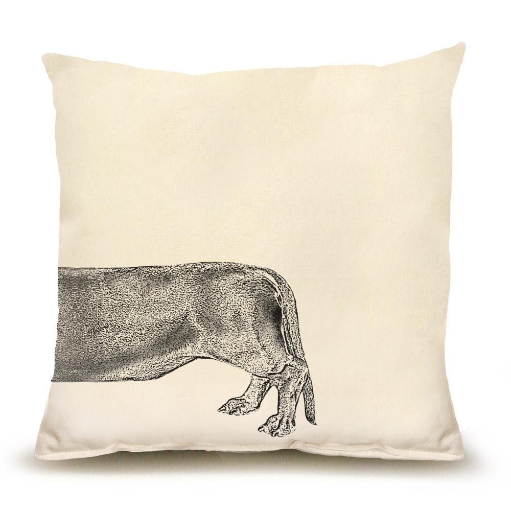 Santa Dachshund Back Medium Pillow
