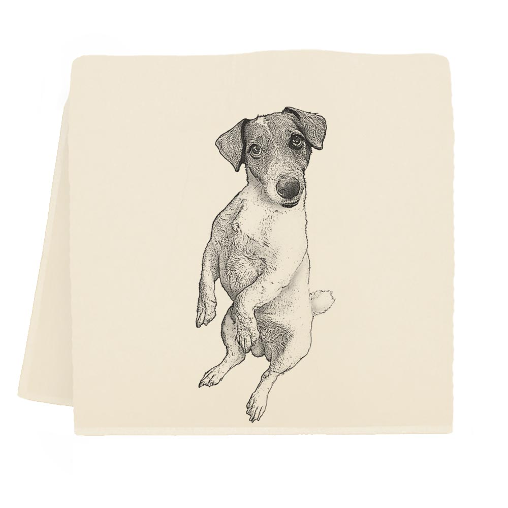 Jack Russel Tea Towel