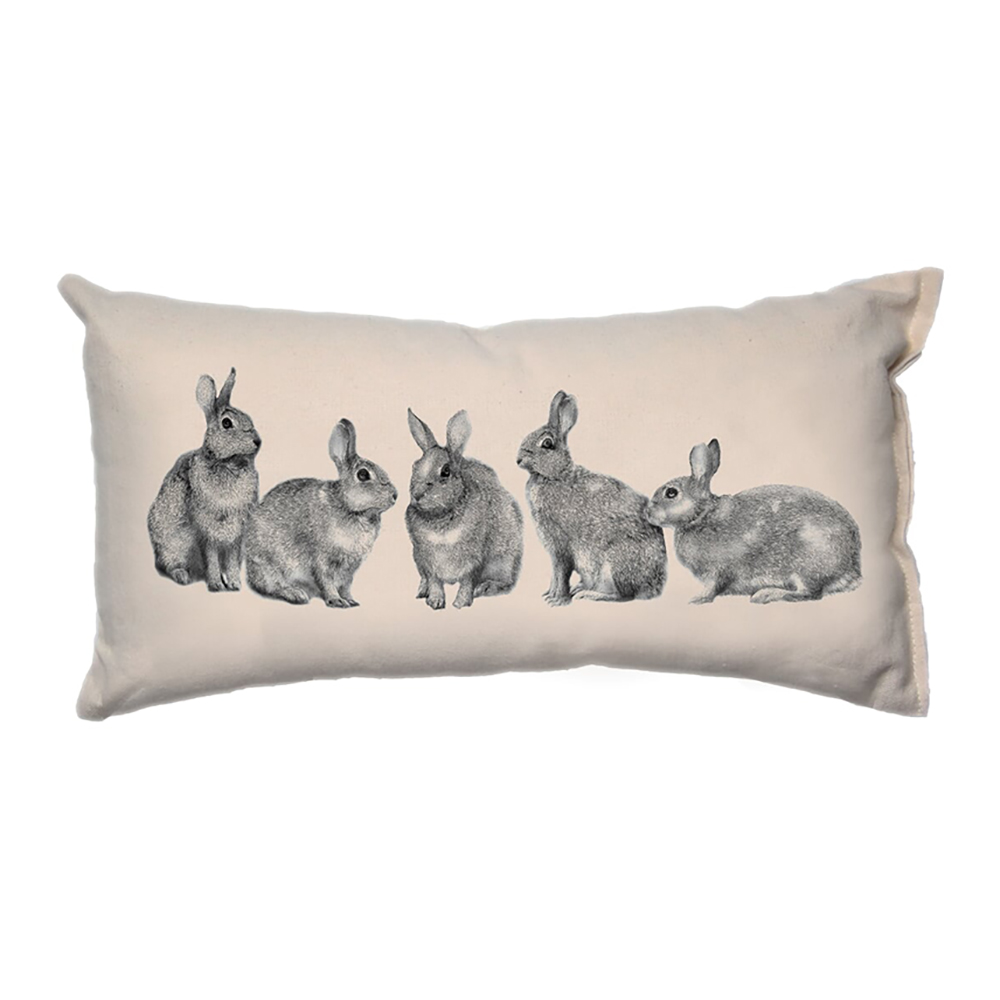 Family of Bunnies__Small Pillow_8x15